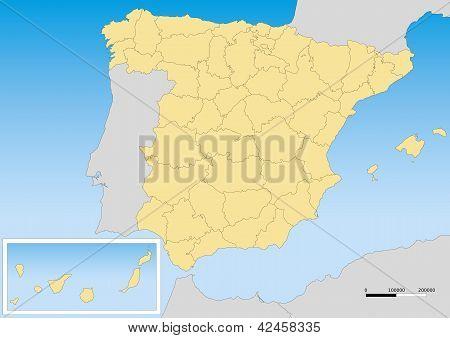 Spain Map Utm