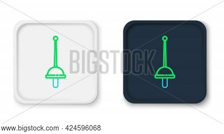 Line Fencing Icon Isolated On White Background. Sport Equipment. Colorful Outline Concept. Vector
