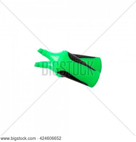 Green highlighter isolated on white