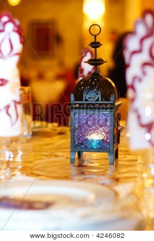 Oriental Lamp On A Table