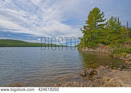 Looking Out To The Great North Woods On Knife Lake In The Boundary Waters In Minnesota