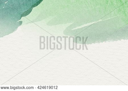 Green watercolor on a beige background illustration