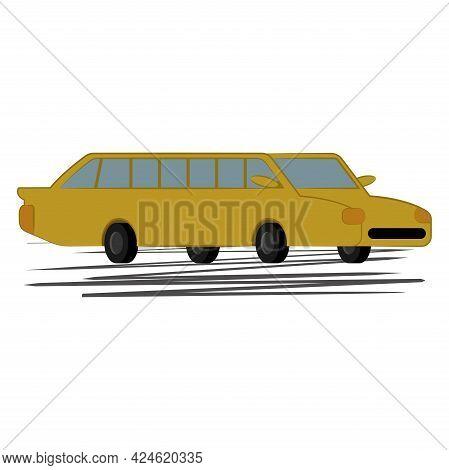 Isolated Limousine Icon Luxury Transportation Vector Illustration