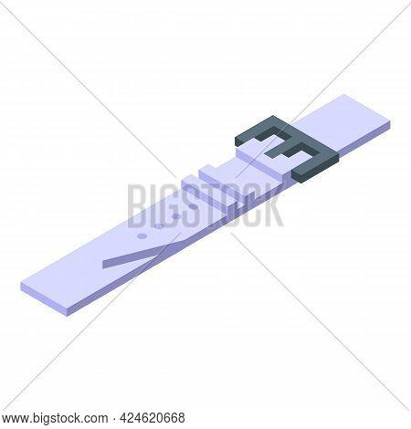 Watch Strap Icon Isometric Vector. Wrist Belt. Wristwatch Modern Band