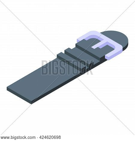 Rubber Strap Icon Isometric Vector. For Watch, Wristwatch. Smart Bracelet Band