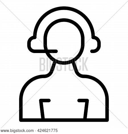 Narrow Market Call Support Icon. Outline Narrow Market Call Support Vector Icon For Web Design Isola