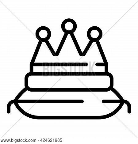 Narcissism Crown Pillow Icon. Outline Narcissism Crown Pillow Vector Icon For Web Design Isolated On