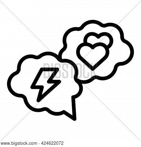 Narcissism Thunderstorm Chat Icon. Outline Narcissism Thunderstorm Chat Vector Icon For Web Design I