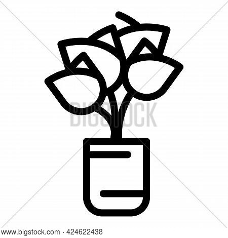 Day Flower Bouquet Icon. Outline Day Flower Bouquet Vector Icon For Web Design Isolated On White Bac