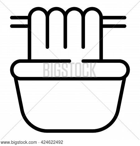 Late Work Bathtub Icon. Outline Late Work Bathtub Vector Icon For Web Design Isolated On White Backg