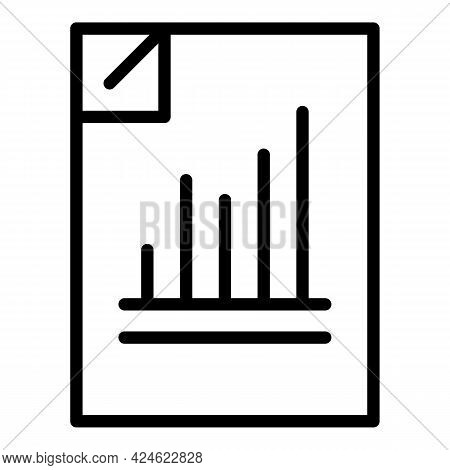 Regulated Products Paper Icon. Outline Regulated Products Paper Vector Icon For Web Design Isolated