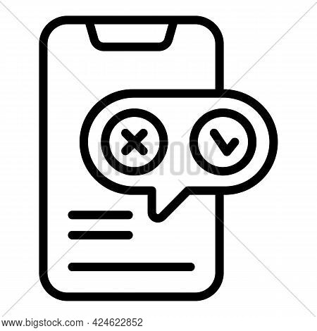 Regulated Products Smartphone Icon. Outline Regulated Products Smartphone Vector Icon For Web Design