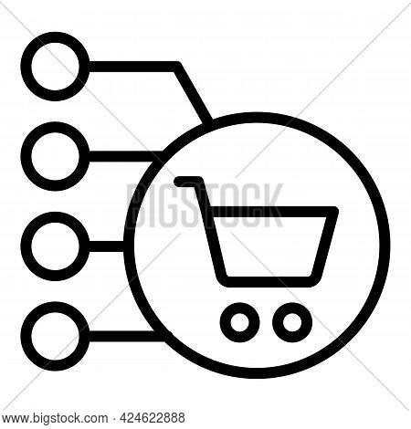 Regulated Products Cart Icon. Outline Regulated Products Cart Vector Icon For Web Design Isolated On