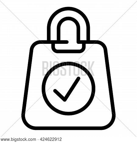 Regulated Products Bag Icon. Outline Regulated Products Bag Vector Icon For Web Design Isolated On W