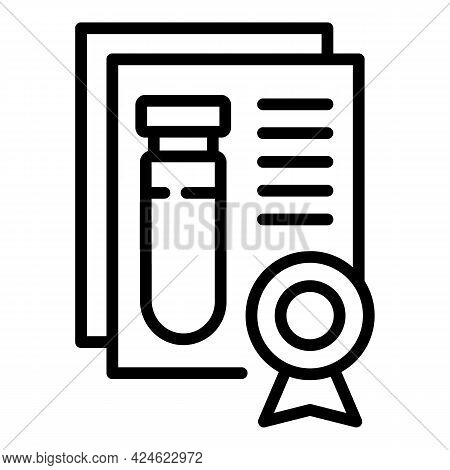 Regulated Products Test Tube Icon. Outline Regulated Products Test Tube Vector Icon For Web Design I