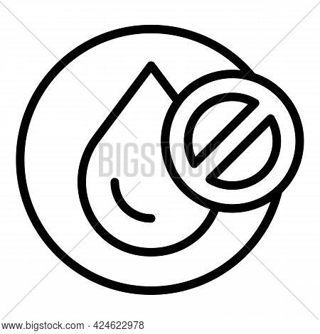 Regulated Products Water Drop Icon. Outline Regulated Products Water Drop Vector Icon For Web Design