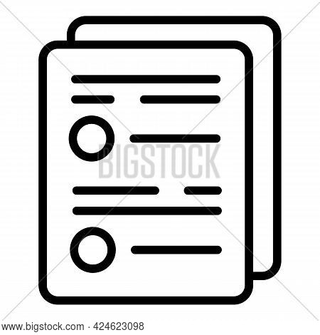Regulated Products Test Icon. Outline Regulated Products Test Vector Icon For Web Design Isolated On