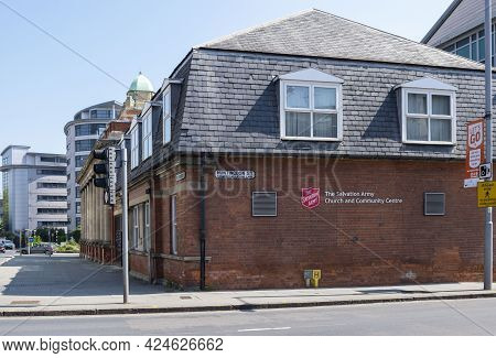 Nottingham, Nottinghamshire, England - June 1, 2021. The Salvation Army Exterior Building In Notting
