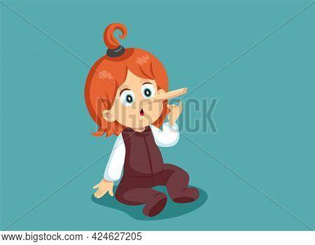 Funny Toddler Child Telling Lies Growing Nose