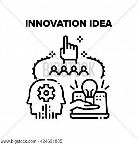 Innovation Idea Vector Icon Concept. Innovation Idea For Development Software And Technology, Develo