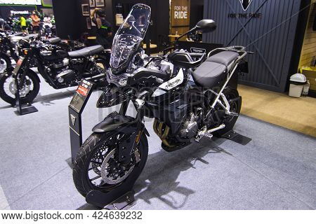 Bangkok Thailand - December 2,  2020: Triumph Motorcycle Shows And Sales New Technology And Other Ex