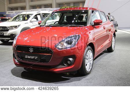 Bangkok - Dec 2, 2020  Car Show Suzuki Swift At Auto Shows And Other Exhibitions (big Motor Sale) In