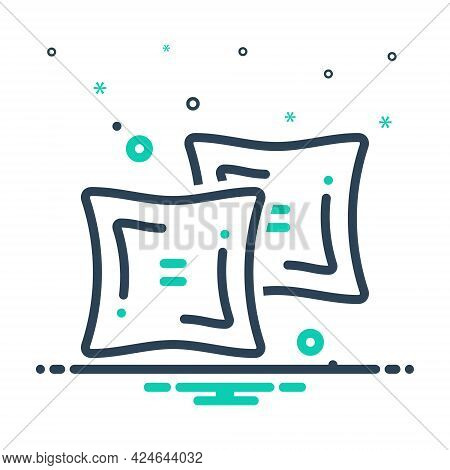 Mix Icon For Duvet  Comforter Pillow Sleeping Relaxation Square