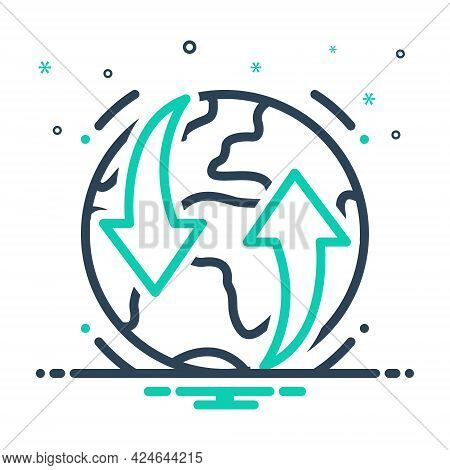 Mix Icon For Earthmoving Global Planet Universe Soil Unformed Rock