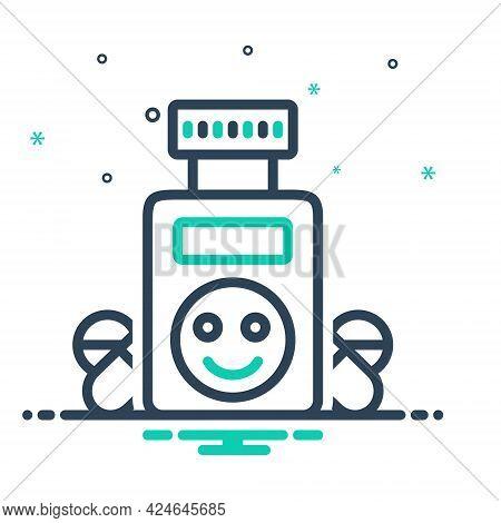 Mix Icon For Ecstasy Bliss Jubilance Bottle Medicine Drug Medicament