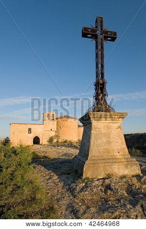 Hermitage Of San Frutos, Hoces Del Duraton, Segovia, Castilla Y Leon, Spain