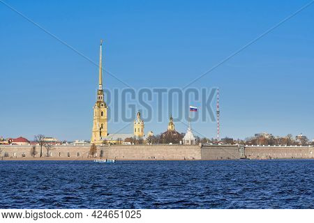 Russia, Saint Petersburg View Of The Peter And Paul Fortress On The Neva River