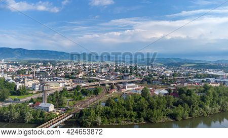 Aerial View Of Zilina In Slovakia. Zilina Is City In North-western Slovakia.