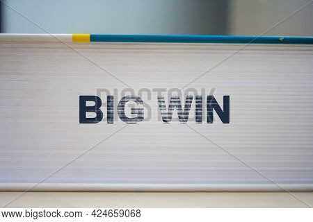 Big Win Concept Background. Big Win Word On White Book.