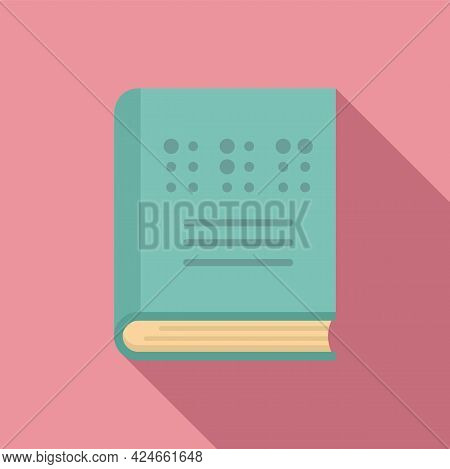 Book For Blind Icon. Flat Illustration Of Book For Blind Vector Icon For Web Design