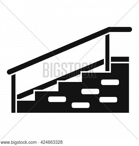 Hospital Stairs With Bar Icon. Simple Illustration Of Hospital Stairs With Bar Vector Icon For Web D