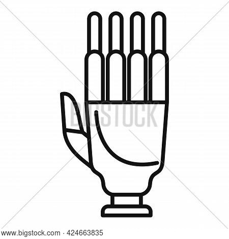 Artificial Hand Icon. Outline Artificial Hand Vector Icon For Web Design Isolated On White Backgroun