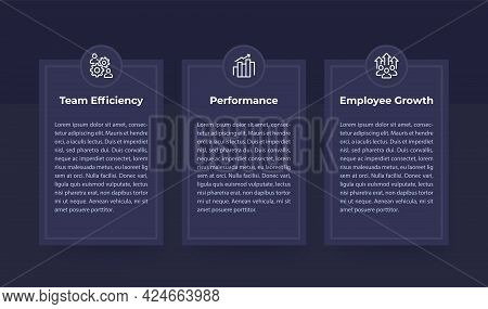 Team Efficiency, Performance And Growth Banner Set