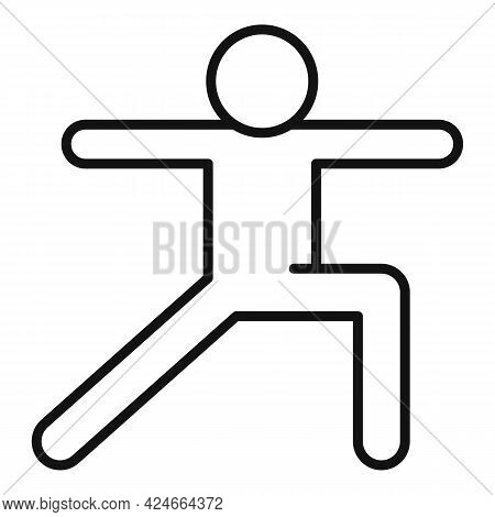 Home Training Pilates Icon. Outline Home Training Pilates Vector Icon For Web Design Isolated On Whi