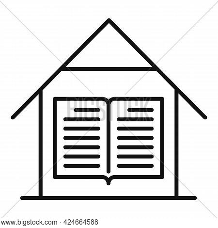 Home Training Reading Book Icon. Outline Home Training Reading Book Vector Icon For Web Design Isola