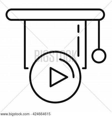 Home Training Video Lesson Icon. Outline Home Training Video Lesson Vector Icon For Web Design Isola