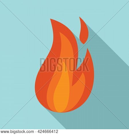 Fire Flame Danger Icon. Flat Illustration Of Fire Flame Danger Vector Icon For Web Design
