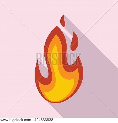 Fire Flame Passion Icon. Flat Illustration Of Fire Flame Passion Vector Icon For Web Design