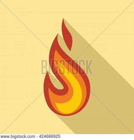 Fire Flame Flammable Icon. Flat Illustration Of Fire Flame Flammable Vector Icon For Web Design