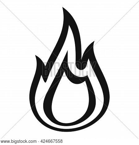 Fire Flame Torch Icon. Simple Illustration Of Fire Flame Torch Vector Icon For Web Design Isolated O