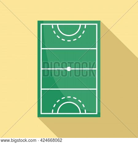 Hurling Field Icon. Flat Illustration Of Hurling Field Vector Icon For Web Design