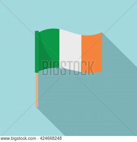 Hurling Irish Flag Icon. Flat Illustration Of Hurling Irish Flag Vector Icon For Web Design