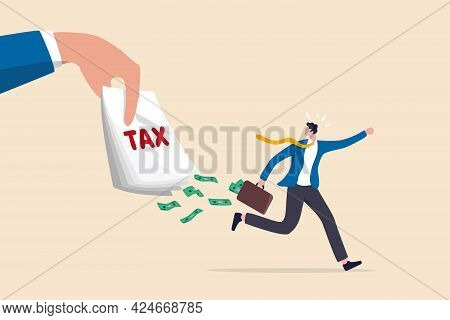 Tax Evasion, Illegal Hide Revenue And Avoid Paying Government Tax, Fraud And Money Laundering Or Fin
