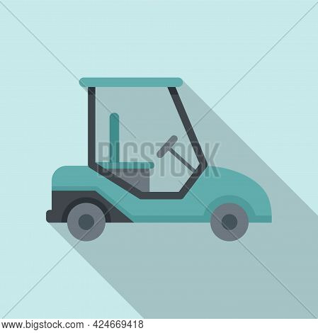 Golf Cart Auto Icon. Flat Illustration Of Golf Cart Auto Vector Icon For Web Design