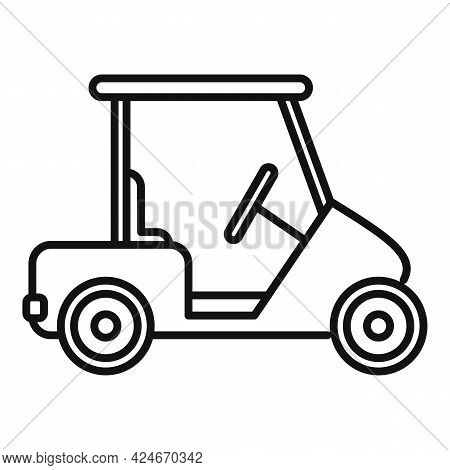 Golf Cart Club Icon. Outline Golf Cart Club Vector Icon For Web Design Isolated On White Background