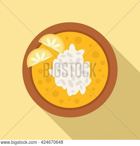 Greece Food Soup Icon. Flat Illustration Of Greece Food Soup Vector Icon For Web Design